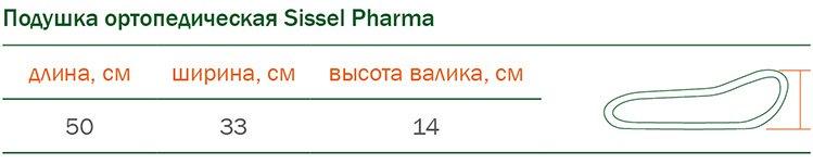 Размеры ортопедических подушек Sissеl Pharma