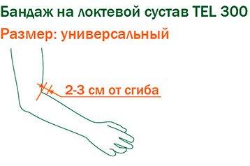 Подбор размера ортеза на локтевой сустав TEL 300
