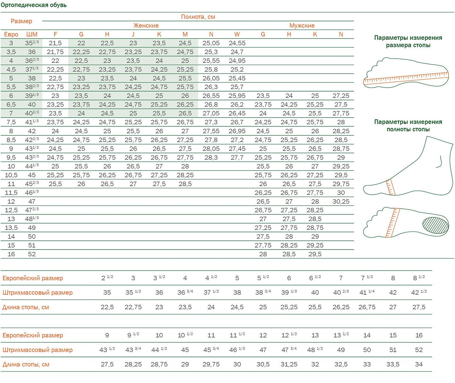 Определение размера обуви Solidus 80085